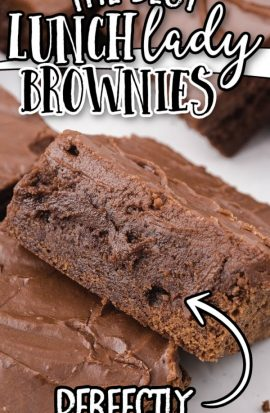close up shot of lunch lady brownies