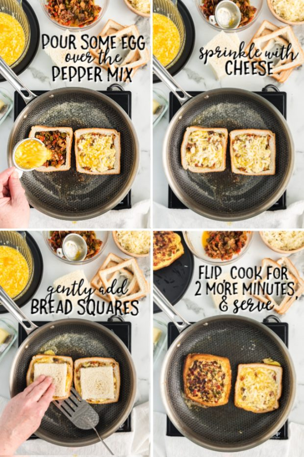 A bunch of food on a tray, with Bread and Cheese
