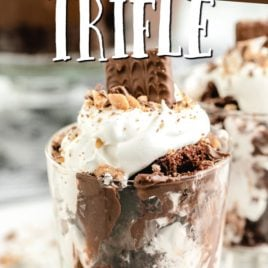 single serving of chocolate trifle