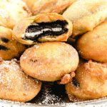 A close up of food, with Deep fried Oreo