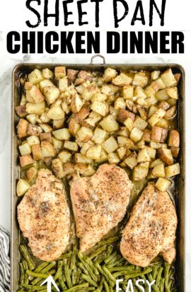 italian sheet pan chicken with potatoes and green beans