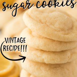 stack of lemon sugar cookies