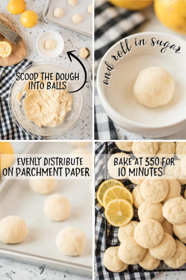 steps for making lemon sugar cookies with instructions from recipe