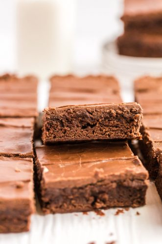 lunch lady brownies stacked