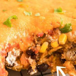mexican casserole closeup