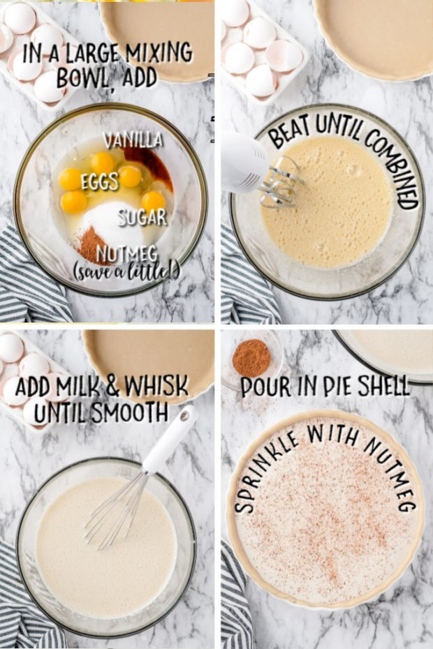 steps to make Custard Pie with directions