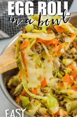 egg roll in a bowl dinner in a skillet