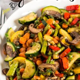 plate with lots of different vegetables that have been sauteed