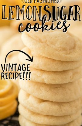 stack of lemon sugar cookies