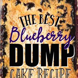 Blueberry Dump Cake in baking dish