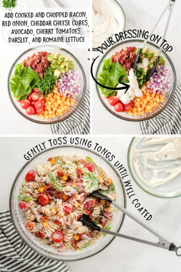 steps to make BLT Pasta Salad