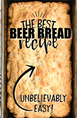 loaf of beer bread from overhead