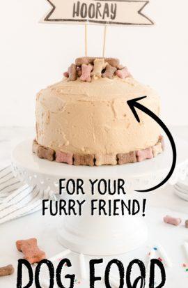 dog food cake on stand