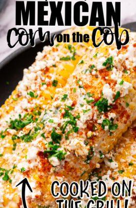 mexican corn on the cob closeup