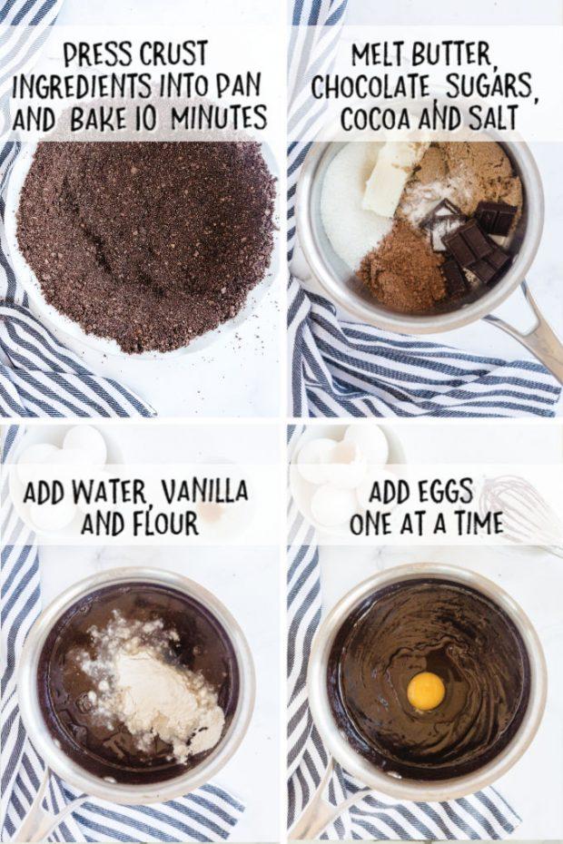 steps to make Mississippi Mud Pie
