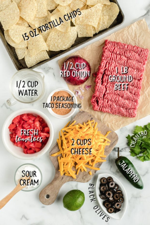 ingredients for Sheet Pan Nachos