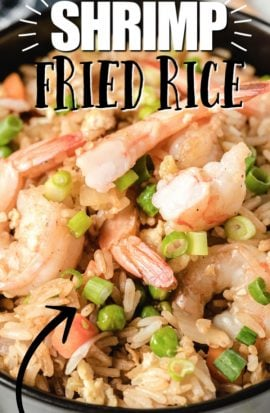shrimp fried rice in a bowl