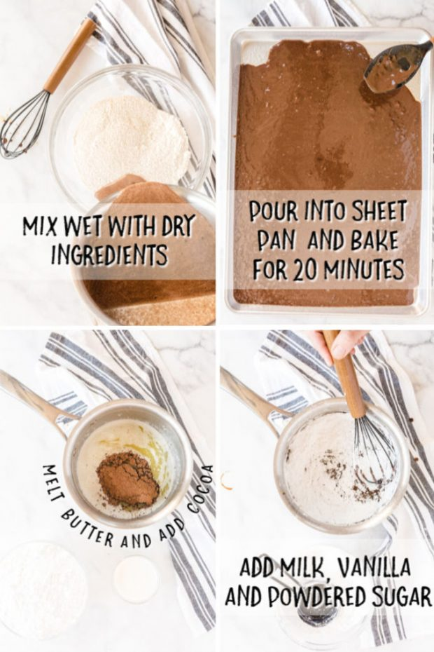 steps to make texas sheet cake with instructions from recipe