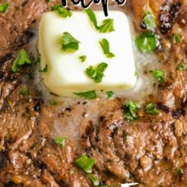 grilled steak with butter