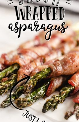 asparagus wrapped in crispy bacon