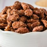 Easy Candied Almonds in a Bowl