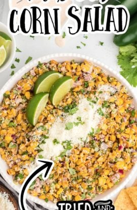 mexican corn salad in a bowl