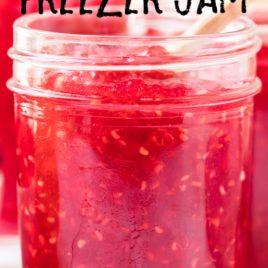 raspberry jam in jar