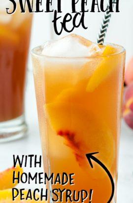 glasses of sweet peach iced tea