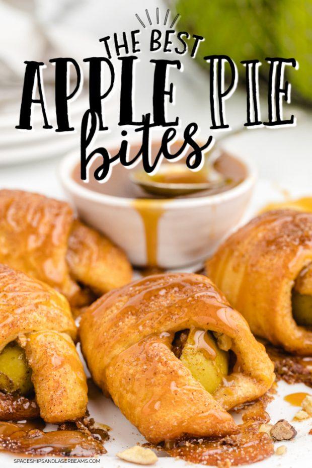 Apple Pie Bites hero image with text overlay