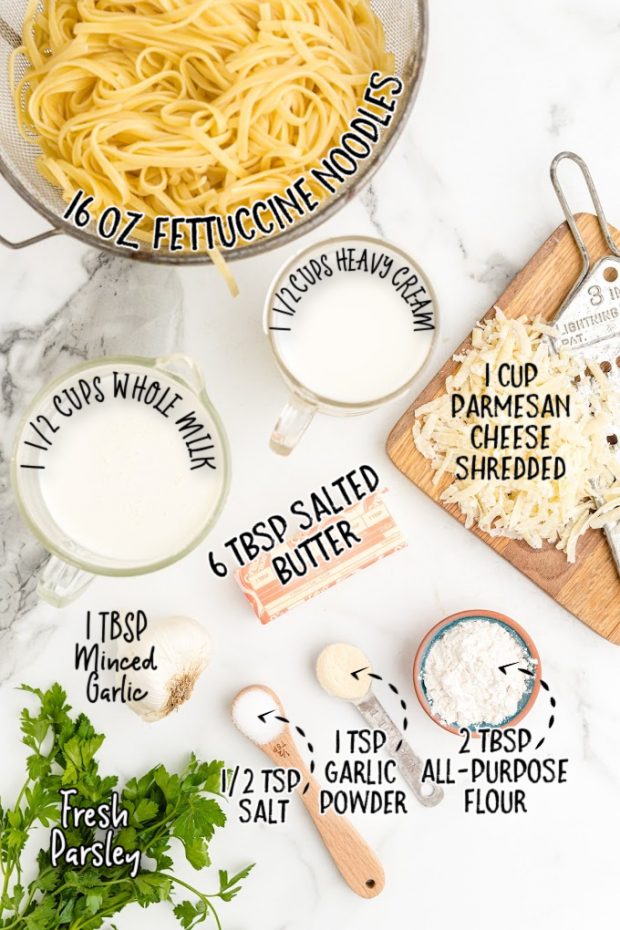 copycat olive garden alfredo sauce raw ingredients that are labeled