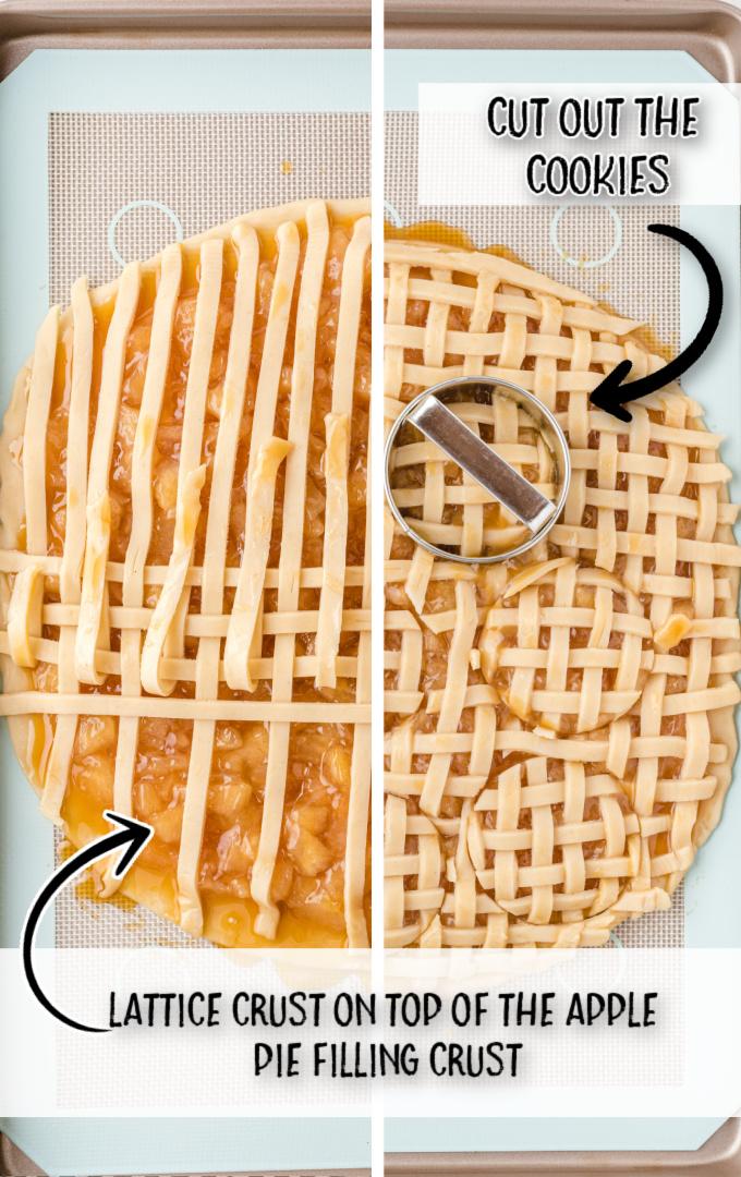apple pie cookies process shot