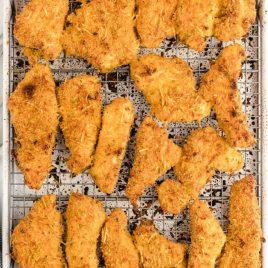 Baked Turkey Tenders on a Baking Sheet