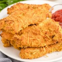 Easy Baked Turkey Tenders on Plate