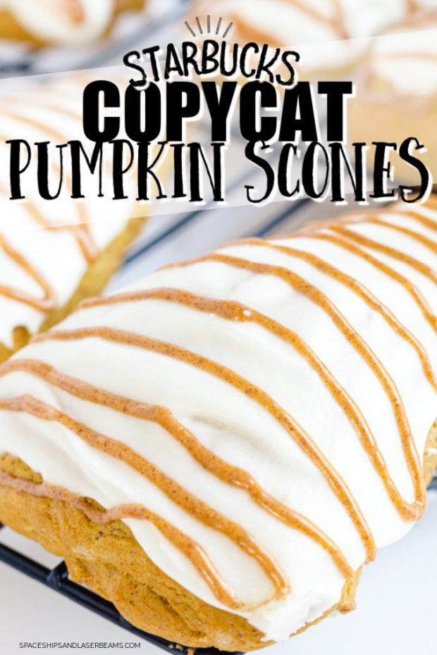 close up of starbucks copycat pumpkin scones