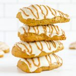 stack of four starbucks copycat pumpkin scones
