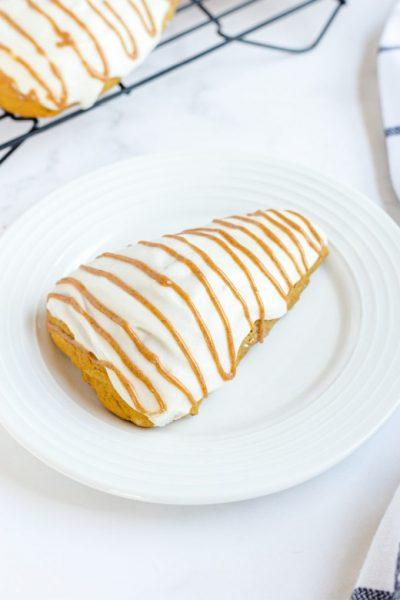 starbucks copycat pumpkin scone on a white plate