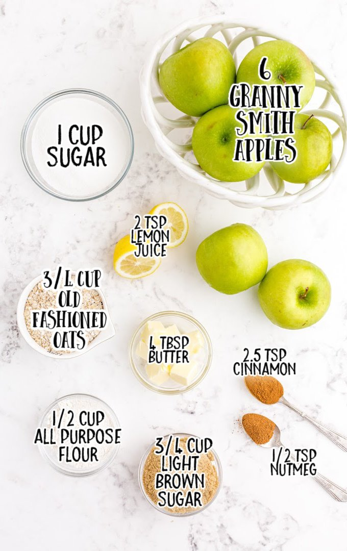 apple crisp raw ingredients that are labeled