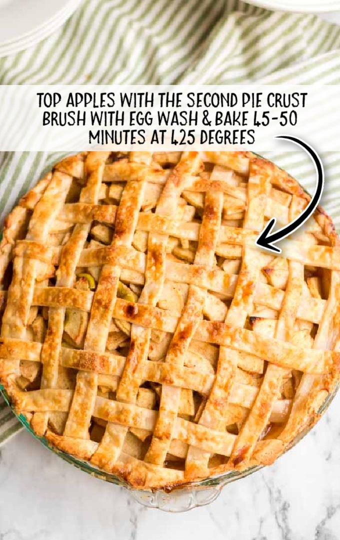 apple pie process shots