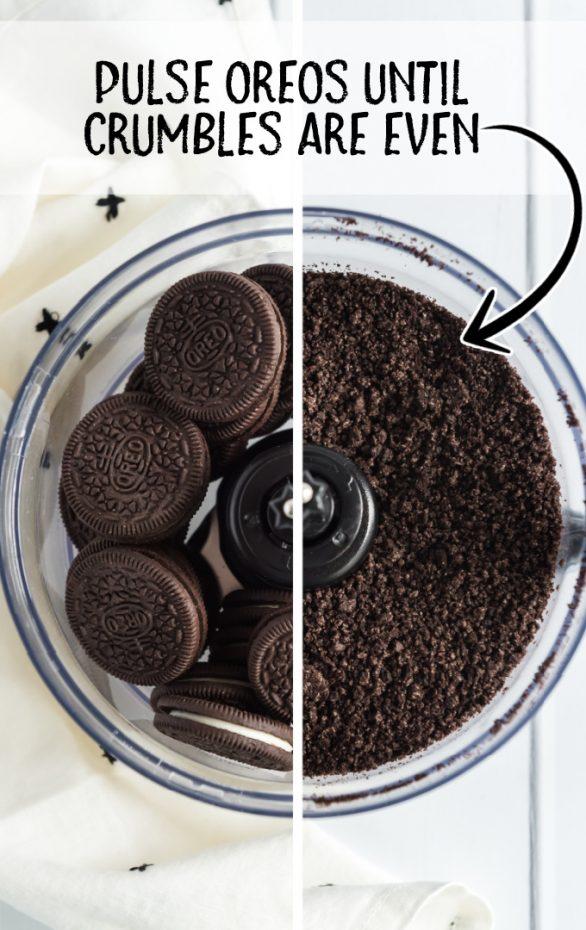 chocolate lasagna process shot