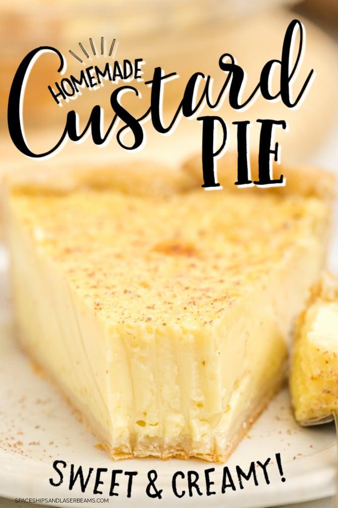 close up shot of custard pie