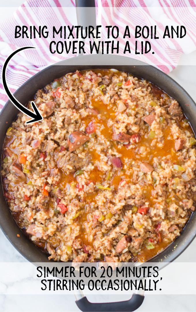 dirty rice process shot