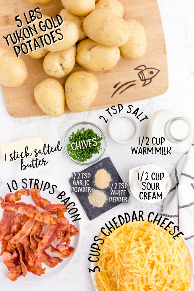 mashed potato casserole raw ingredients that are labeled