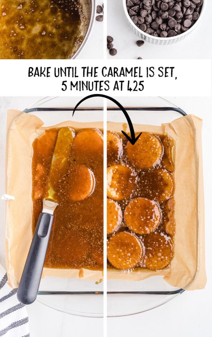 ritz cracker toffee process shot