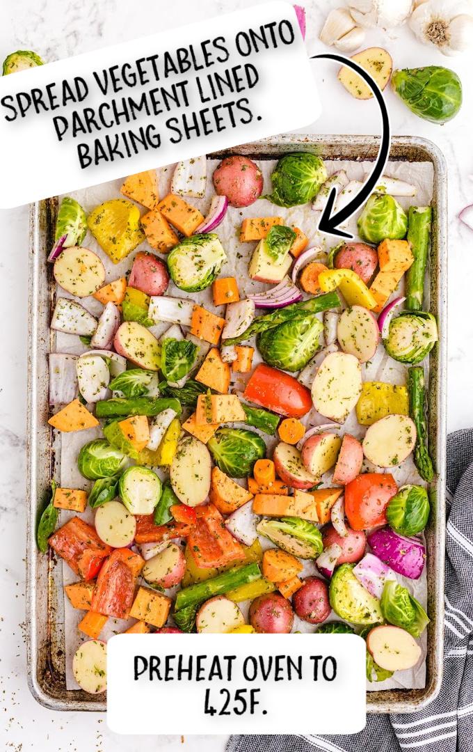 roasted vegetables process shot