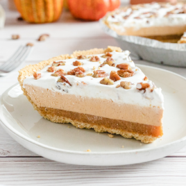 layered pumpkin spice jello pie