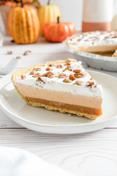 layered pumpkin spice jello pie