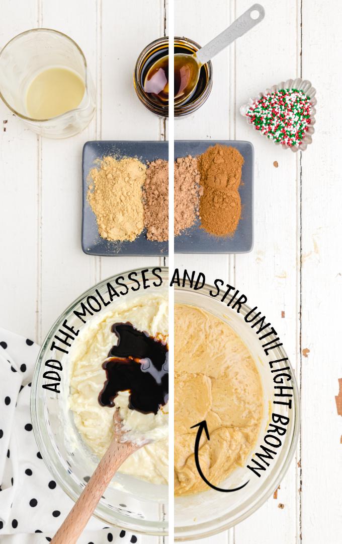 gingerbread fudge process shot