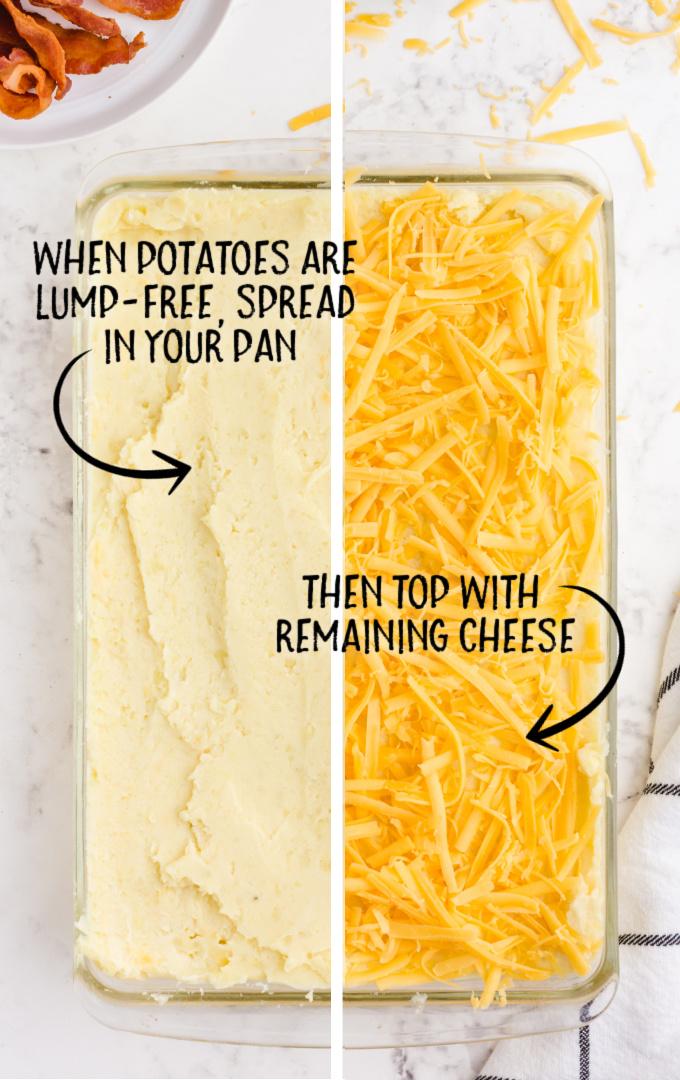 mashed potato casserole process shot