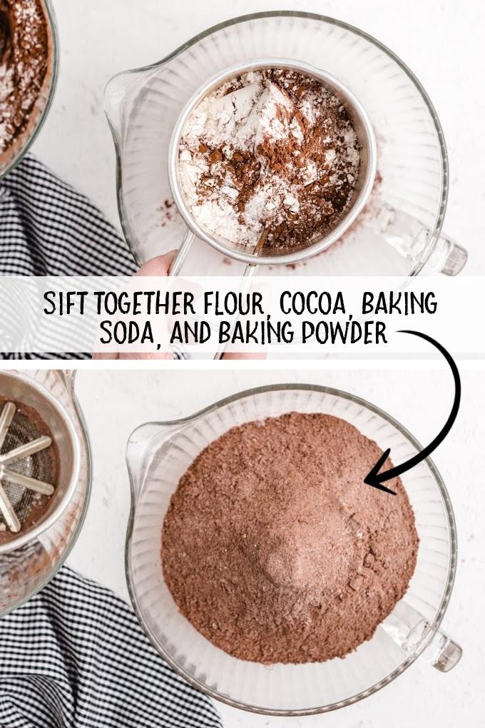 chocolate peanut butter cookies process shot