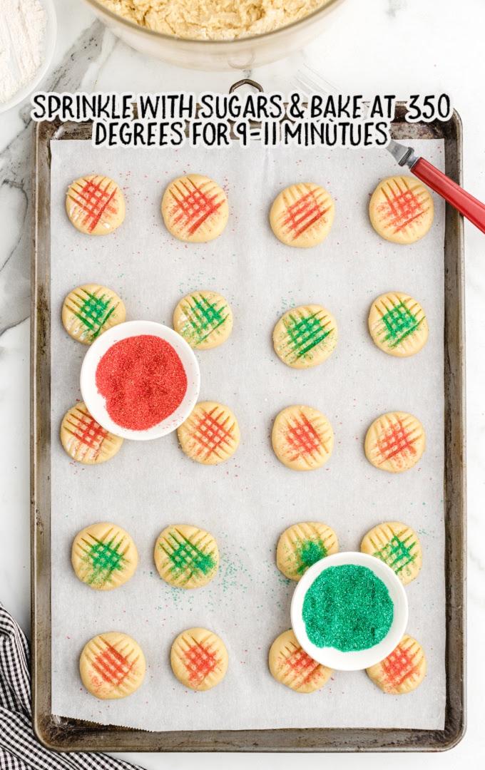 grandma's christmas sugar cookies process shot